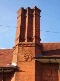 Tudor style chimney