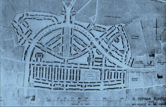 G Topham Forrest's 1920 plan for the postwar estate