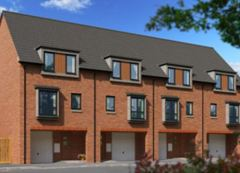 Artist's impression of new housing on Hyacinth Road