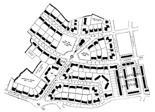The 1907 site plan designed by Harvey and McKewan
