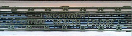 Woolwich Central Health Centre signage