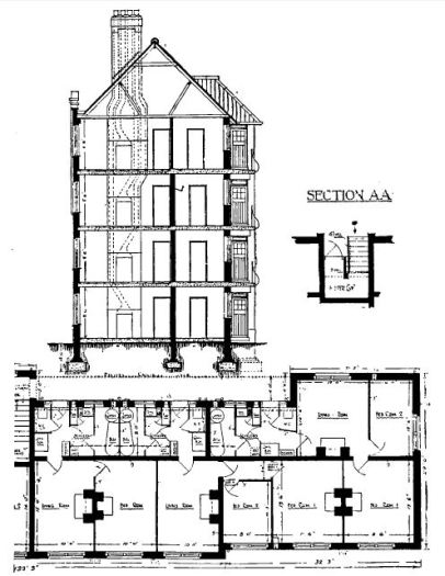 Edward House, Newburn Street plans