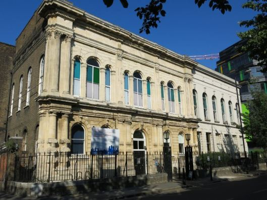 Mile End Old Town Vestry Hall, now the Local History Library and Archives, Bancroft Road: the 1937 extension showing to the left