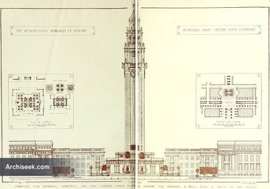 Stepney Town Hall proposal 1919