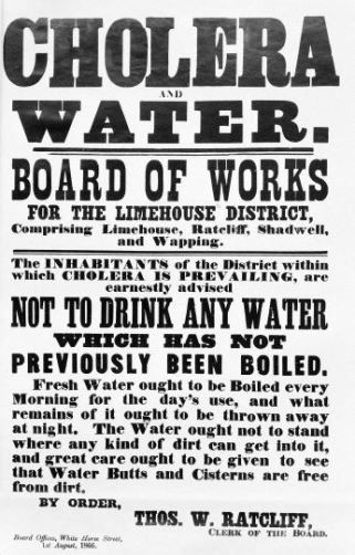 Limehouse District Board of Works cholera poster 2