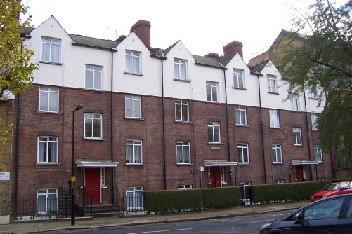Whitehill Houses, Southwark: originally 24 three-roomed tenements opened in 1899.