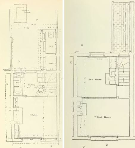 Thompson ground and first floor plans Isca Road