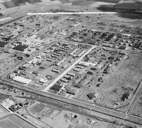 EAW046998 The Kirkby Industrial Estate around Newstet Road 1952